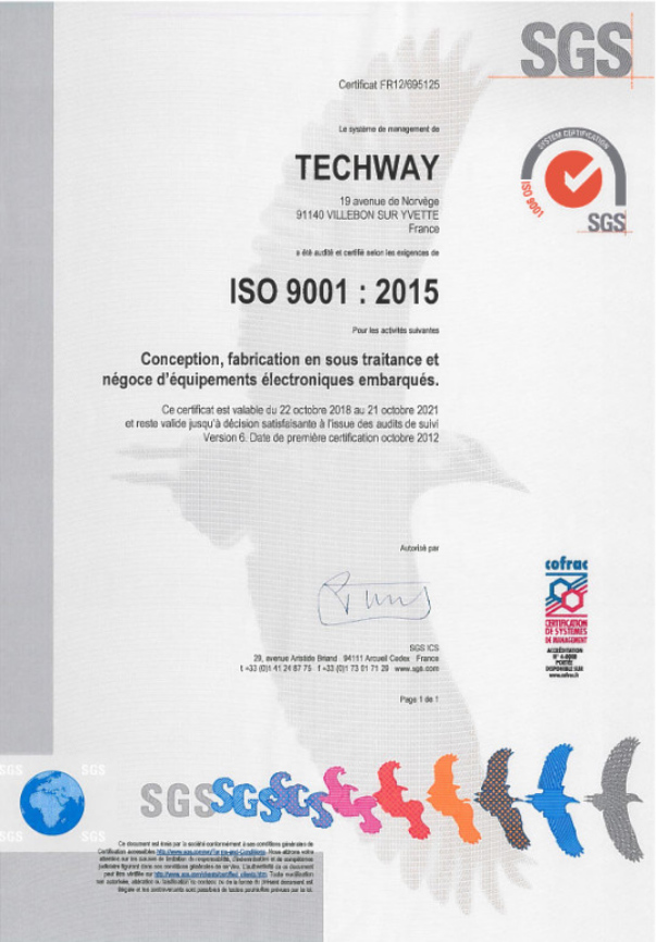Quality policy - certificat iso